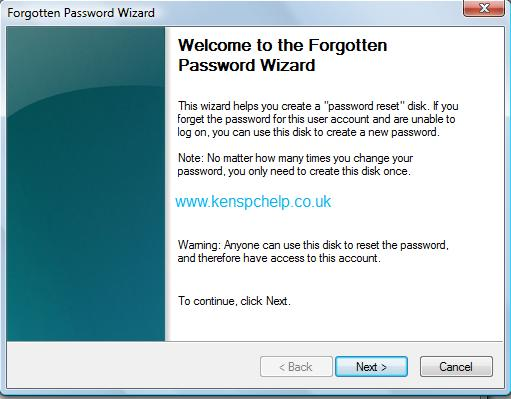 Password Reset Windows 7