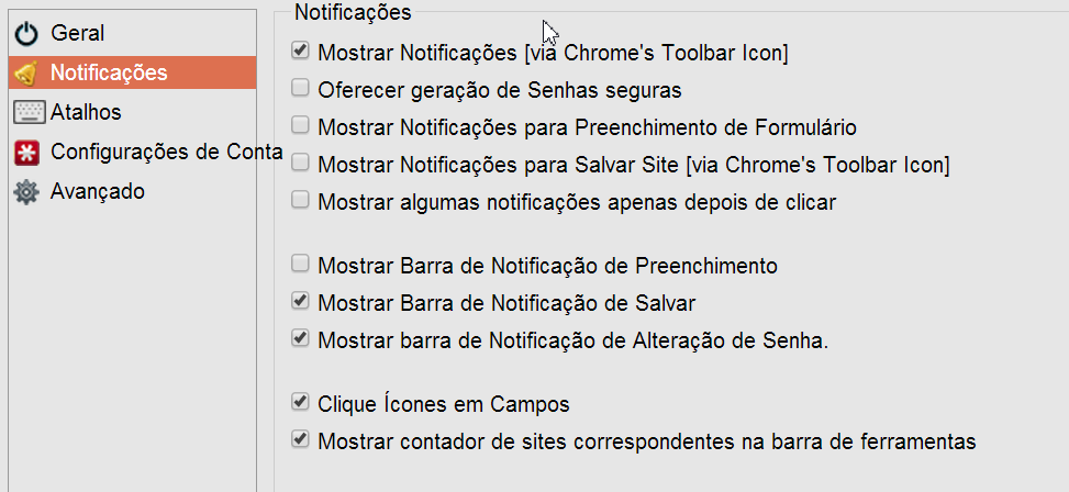 Notifications LastPass